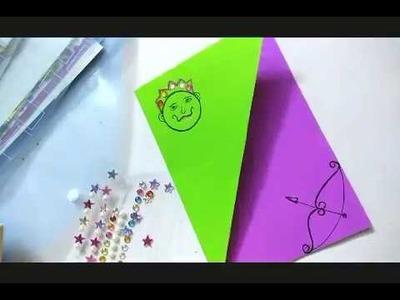 How to make dussehra greeting card | dussehra card making idea for kids| navratri greeting card