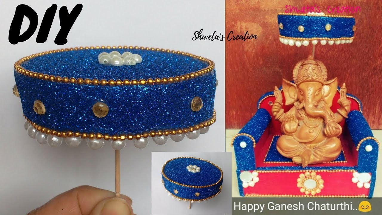 How To Make Easy Umbrella For Ganesh Chaturthi | DIY Ganesh  Chaturthi Umbrella