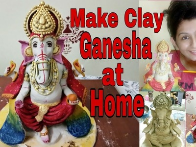 How to Make Eco Friendly Clay Ganesha at Home ||Hardeep Kaur ||