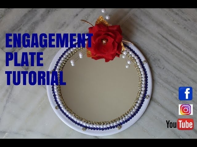 How to make engagement plate for weddings# #PAPER CRAFTS# (pooja thali 3) - PART 02