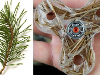 How to make Fidget Spinner with Pine Needles  And Epoxy Resin