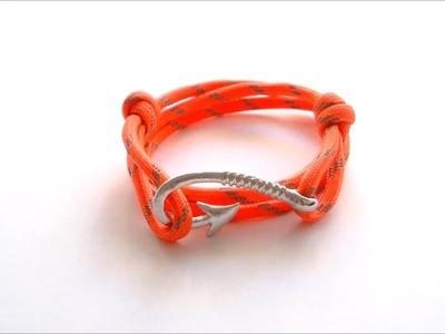"How to make ""Fish Hook"" Adaptive paracord bracelet"
