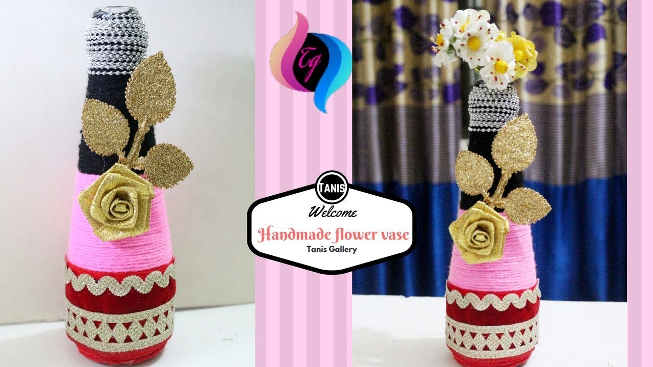 How to make flower vase with waste material - Creative things to do Flower Vase By Waste Material on shelf material, sculpture material, flower material, teapot material, water material, rococo material, quilt material, bird material, blanket material, box material, brick material, carpet material, valentine material, glass material, painting material, tablecloth material, basket material, terracotta material, rope material, heart material,