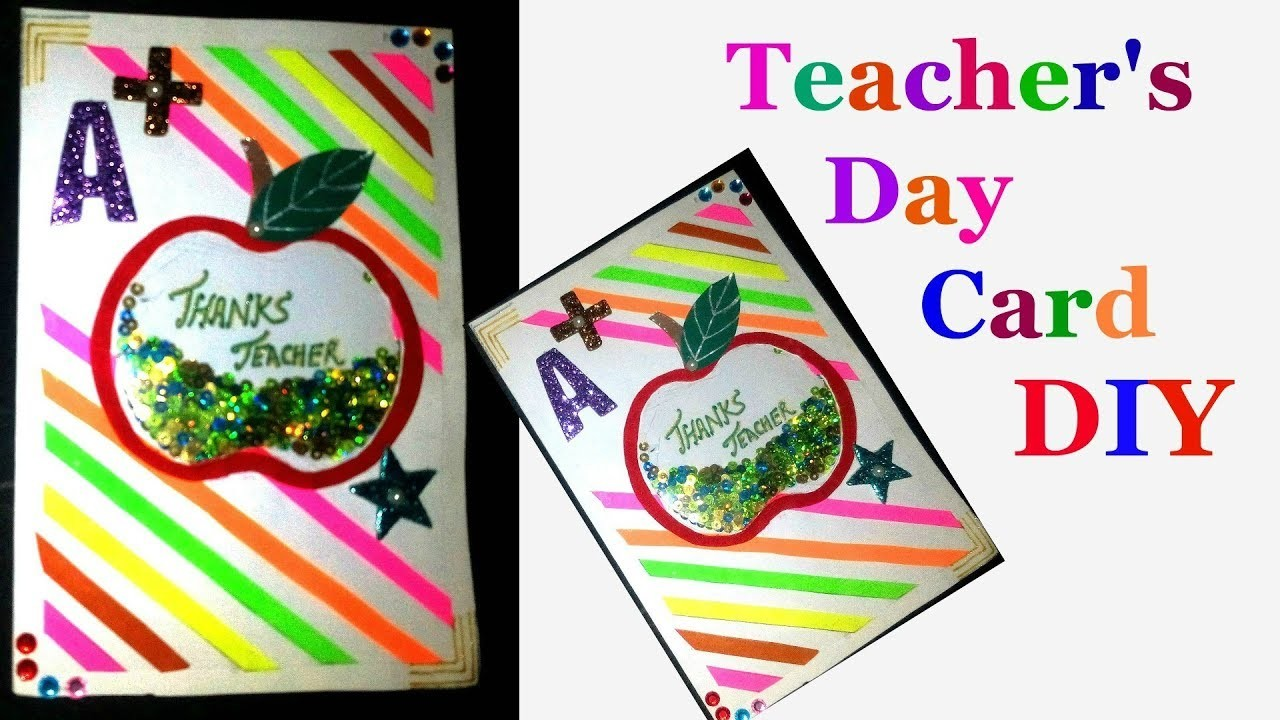 How to make greeting cards for teachers day step by step diy how to make greeting cards for teachers day step by step diy teachers day card making idea kristyandbryce Image collections