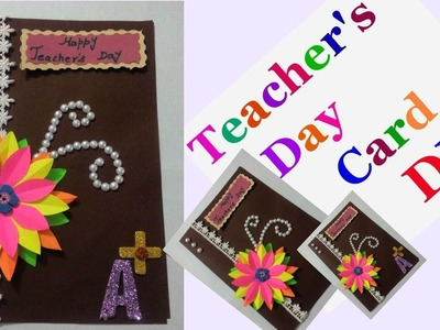 How to make greeting cards for teachers day step by step | DIY -Teacher's Day Card Making Idea