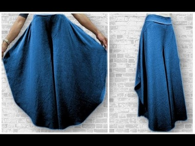 How to make half wheeled palazzo pants with Tuk pleats full drafting.cutting and stitching DIY