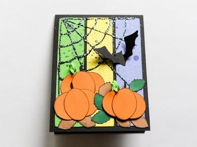 How to make : Halloween Card with Pumpkins | Kartka Halloween z Dyniami - Mishellka #254 DIY