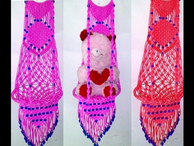 How to make . jhula macrame . at home. very simple design
