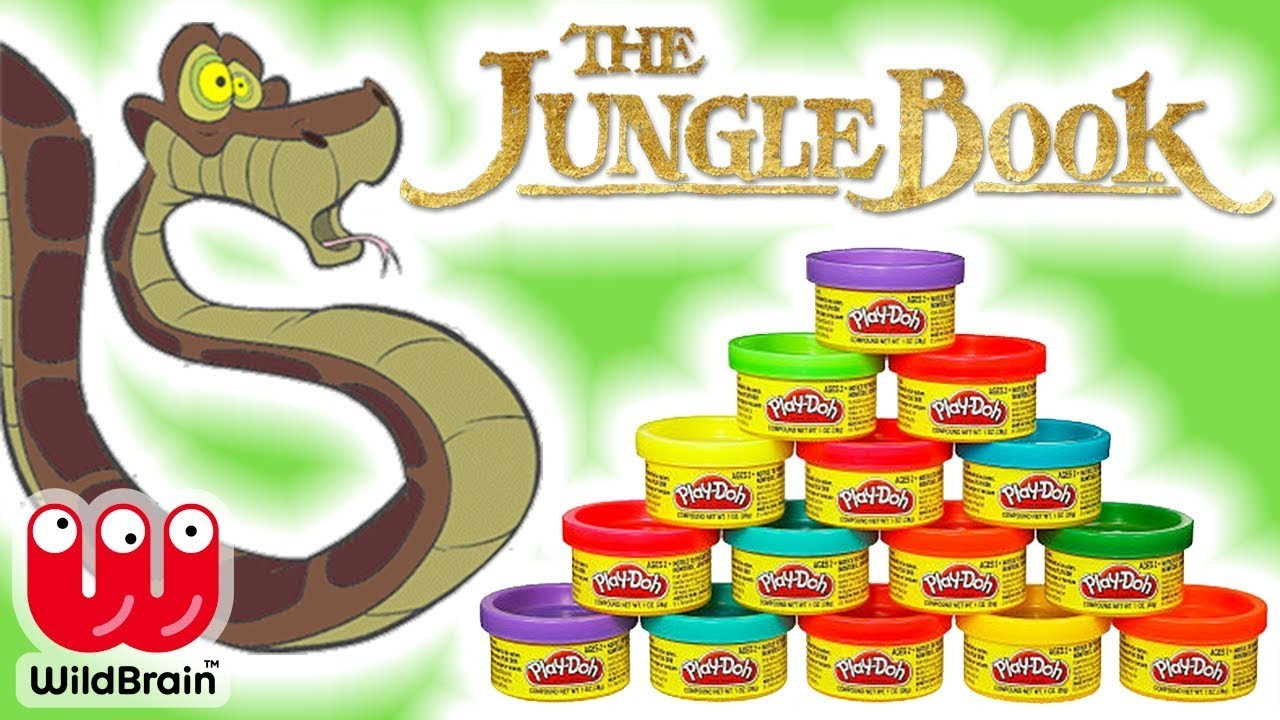 How To Make Kaa With Play-Doh from The Jungle Book | The Jungle Book Characters ???? Crafty Kids