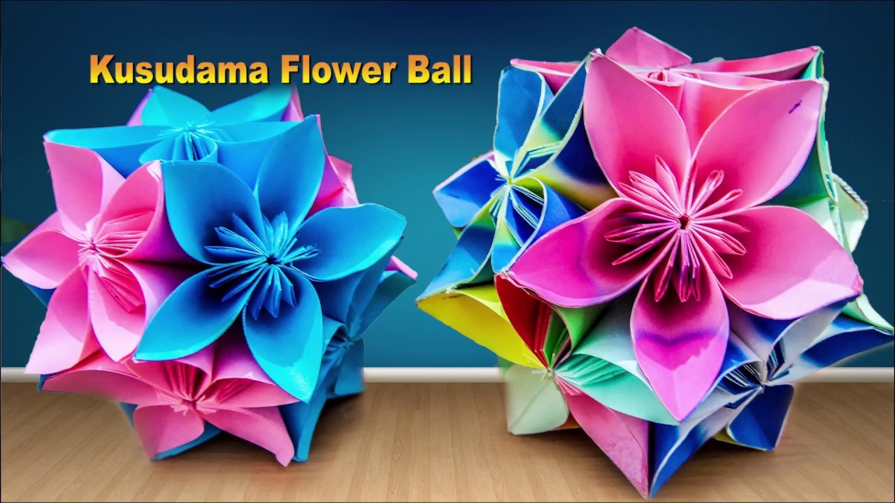 How To Make Kusudama Flower Ball Tutorial Origami My Crafts And Diy