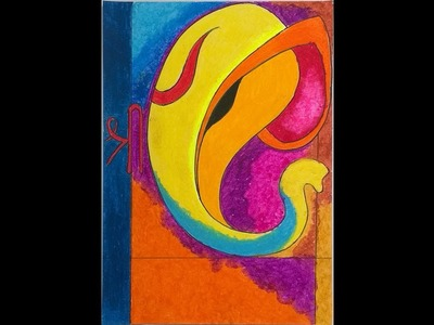 How to make Lord Ganesha with Oil Pastels