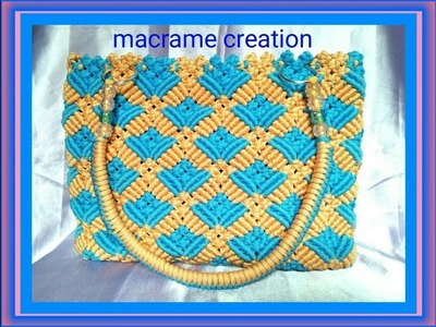 How to make macrame bag tutorial in hindi