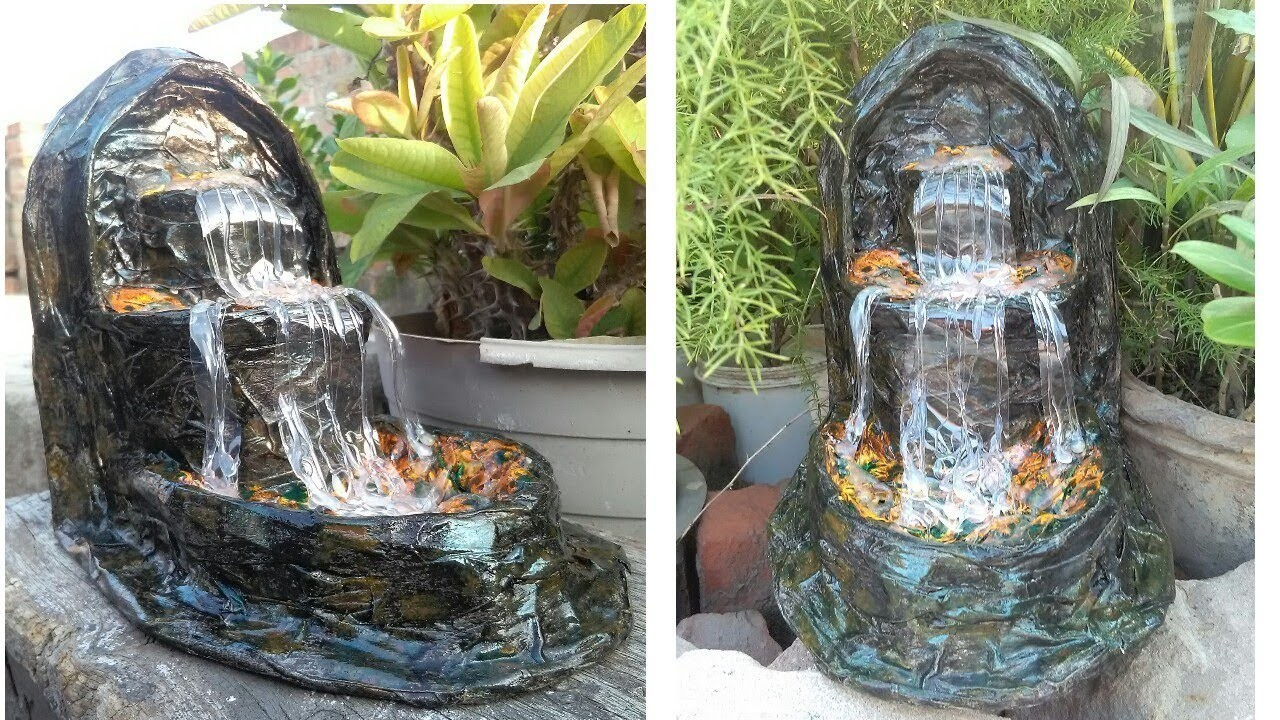 How to make news paper waterfall show piece