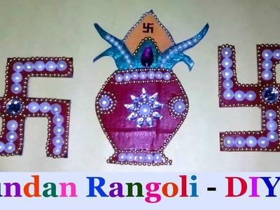 How to Make rearrangable kundan Rangoli Navratri special -DIY Kundan Rangoli
