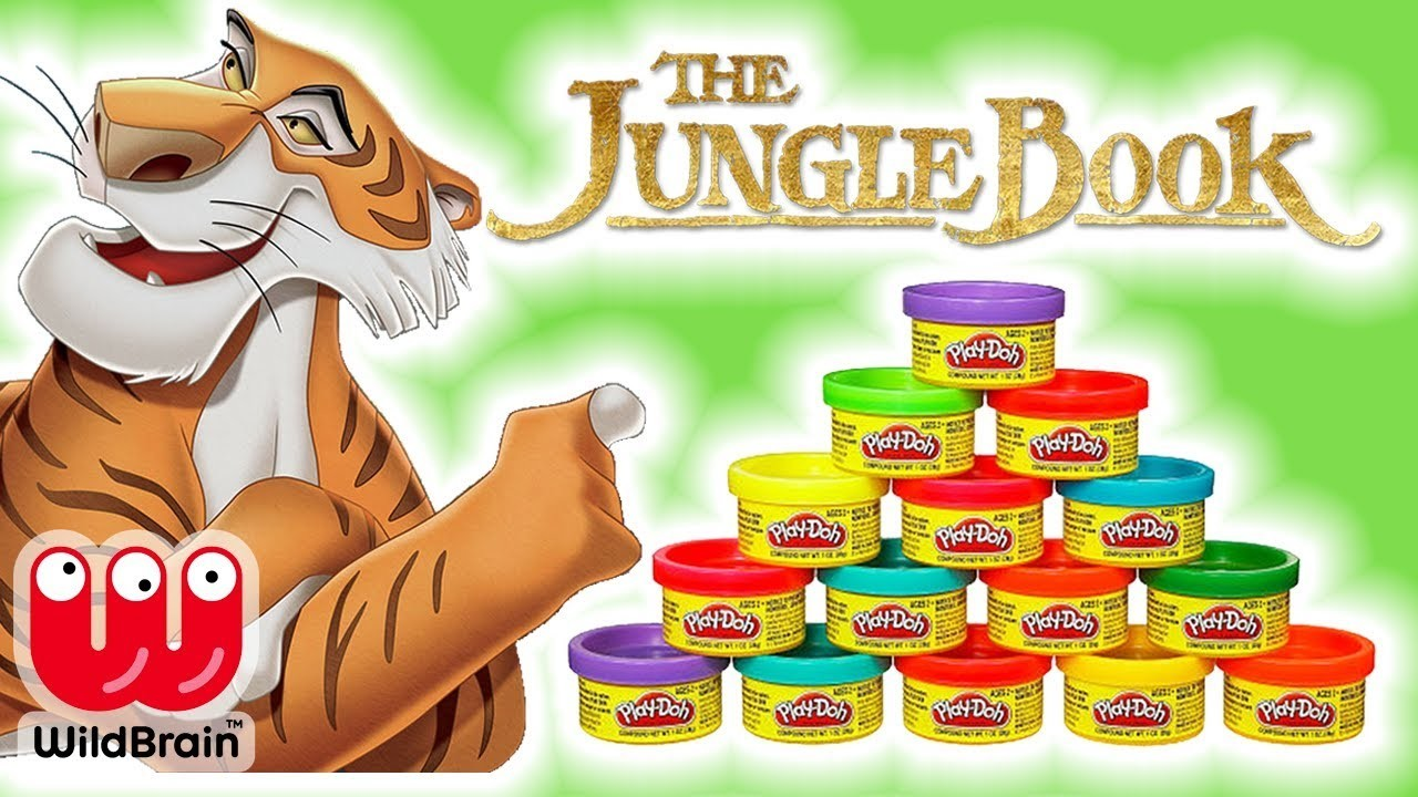 How To Make Shere Khan With Play-Doh   The Jungle Book   Jungle Book Characters   Crafty Kids