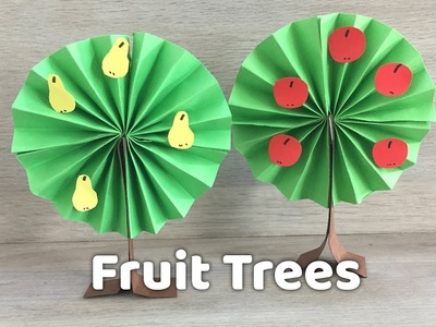 How to make simple Paper Tree | DIY Season crafts for kids