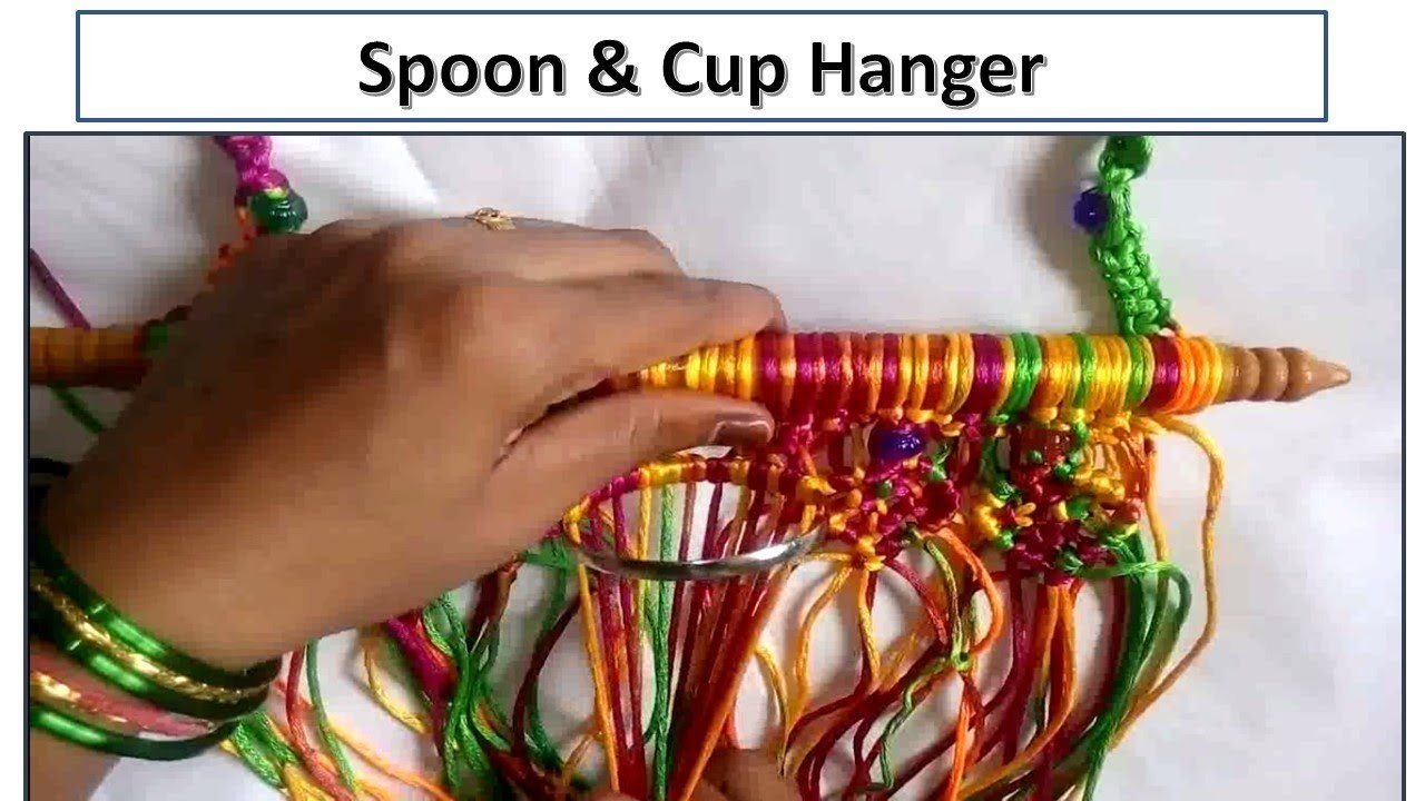 How to make Spoon & Cup hanger from Wastage Macrame | kitchen Laddle