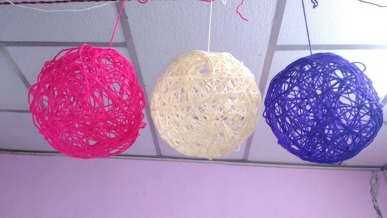 How To Make String Ball Yarn Balls Making Home Decor