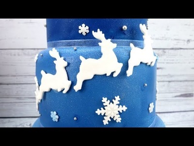 How To Make Sugar Reindeer Cake Decorations Using A PME Cutter