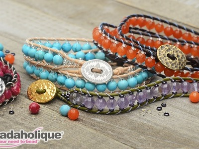 How to Make the Leather Double Wrapped Loom Bracelet Kits by Beadaholique