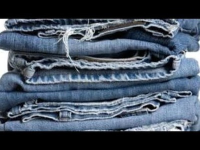 How to make use of waste jeans in home.diy.home decoration.waste metal bangles