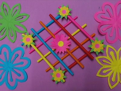 How to Make Wall Hanging Decoration with Color Paper | DIY Paper Wall Hanging Decor Making