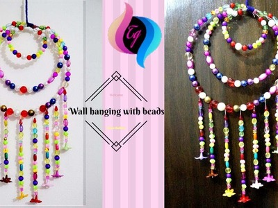 How to make wall hanging with beads - Hanging beads decoration - home decor ideas for living room