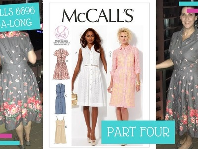 How To :: McCalls 6696 Sew-A-Long :: Attaching the Skirt and Plackets :: Part Four