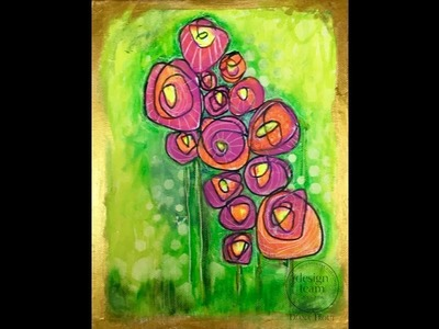 How to Paint Wild Roses with Gelatos