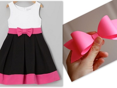 How to sew Bow for little princess dress and hair accessories(Hindi version)