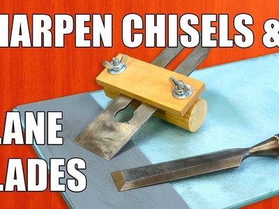 How to Sharpen Chisels & Sharpening Plane Blades: Woodworking for Beginners #32
