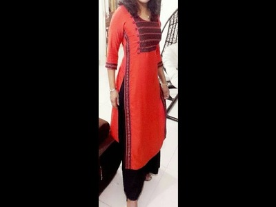 HOW TO STICH SIDE BOARDER ON A KURTHI