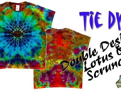 How to Tie Dye:  Lotus & Scrunch Double-Sided Shirt