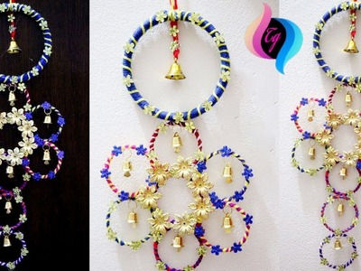 How to use old bangles for decoration - How to use waste bangles - Home decoration using bangles