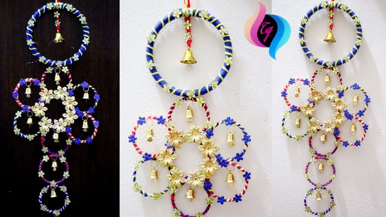 Wall Decoration Using Bangles : How to use old bangles for decoration waste