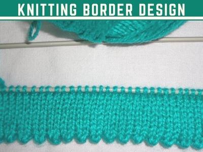 Knitting Beautiful Border Design in Hindi