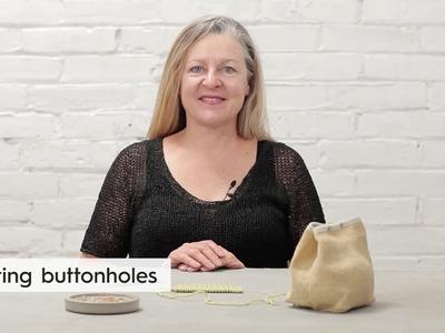 Knitting buttonholes. Tips & Techniques
