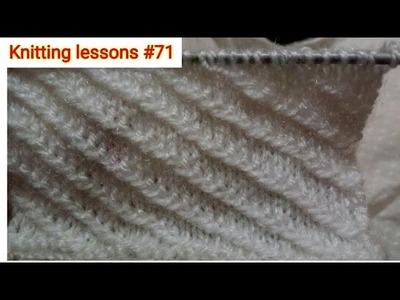 Knitting design #71 || Slip Stitch || Left Diagonal || Beautiful || Knitting Pattern ||