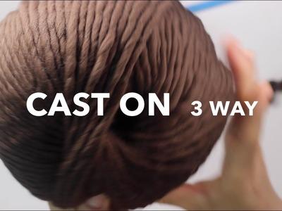 [Loom knitting] CAST ON 3 WAY