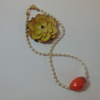Orange and Pearls - Clearance
