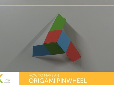 Origami toys #74 - How to make an origami pinwheel IV (3 pointed)