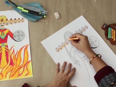 Raavan - How To Draw Raavan - Dussehra Special