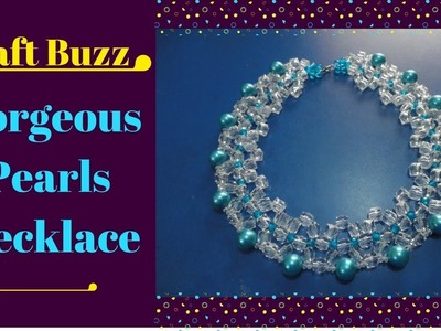 Royal Blue Gorgeous Pearls Necklace ???? How to make a beautiful pearl necklace?