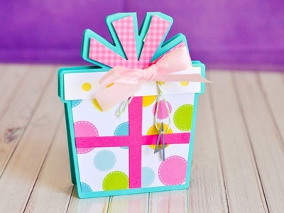 Stephanie's Stamp Pad #99 - How to Make a Gift Shaped Card