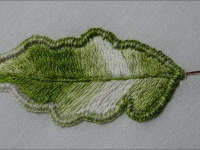 Stump Work (part 2) - How to Make Wired Needle lace Leaf