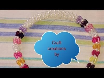 পুতির ব্যাগের হাতল||How to make beaded bag handel||Beads bag handel||Diy craft