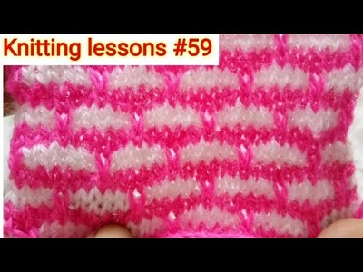 Two Colours || Knitting design || Baby sweater design || Very easy to make