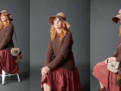 Big Easy Pullover Crochet Along Part 2 Left Handed