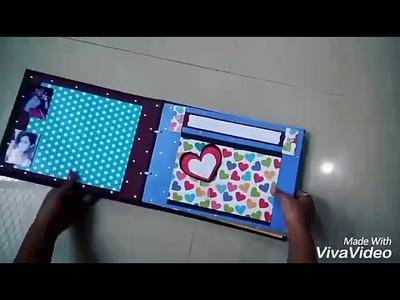 Birthday scrapbook card idea. .love????