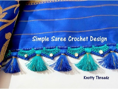Crochet Saree Tassels Tutorial | Easy, Simple and Quick Design for Beginners | www.knottythreadz.com